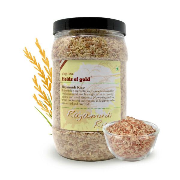 PRISTINE Fields of Gold Rajamudi Rice Jar, 1Kg Pack of 5