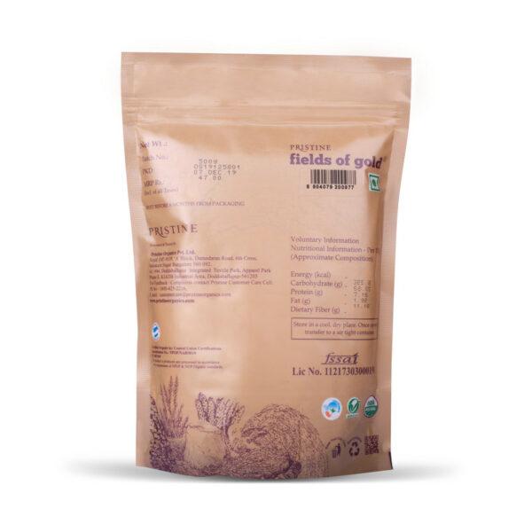 PRISTINE Fields of Gold Organic Ragi Flour, 500gm Pack of 1