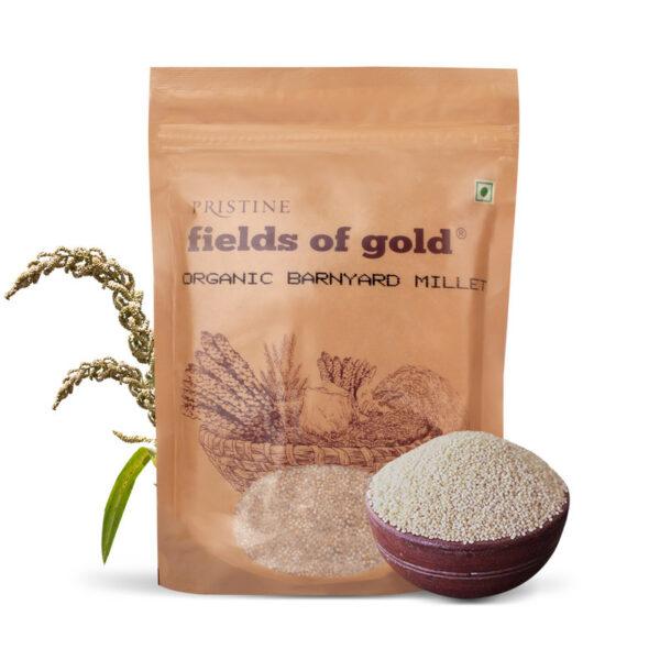 PRISTINE Fields of Gold Organic Barnyard Millet, 500gm Pack of 5