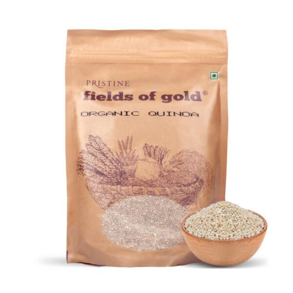 PRISTINE Fields of Gold Organic Quinoa, 500gm Pack of 5