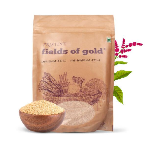 PRISTINE Fields of Gold Organic Amaranth, 500gm Pack of 1