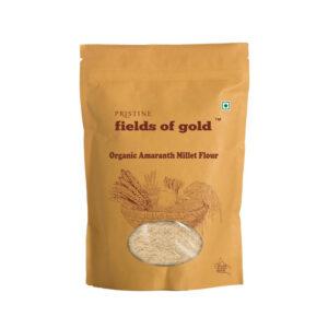 PRISTINE Fields of Gold Organic Amaranth Flour, 500gm Pack of 4
