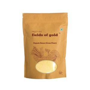 PRISTINE Fields of Gold Organic Besan (Gram flour), 500gm Pack of 4