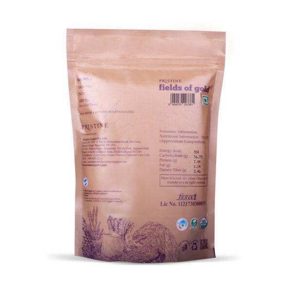 PRISTINE Fields of Gold Organic Beaten Rice (Medium Poha), 500gm Pack of 2