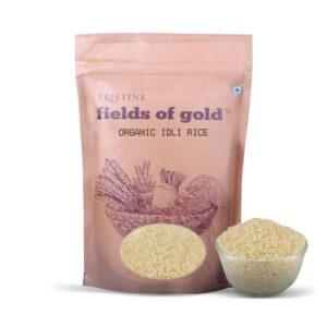 PRISTINE Fields of Gold Organic Idli Rice, 1kg Pack of 4