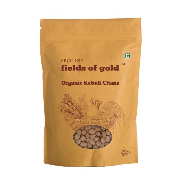 PRISTINE Fields of Gold Organic Kabuli Channa, 1kg Pack of 2