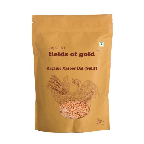 PRISTINE Fields of Gold Organic Masoor Dal (Split), 1kg Pack of 3