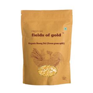 PRISTINE Fields of Gold Organic Moong Dal (Green gram split), 1kg Pack of 1