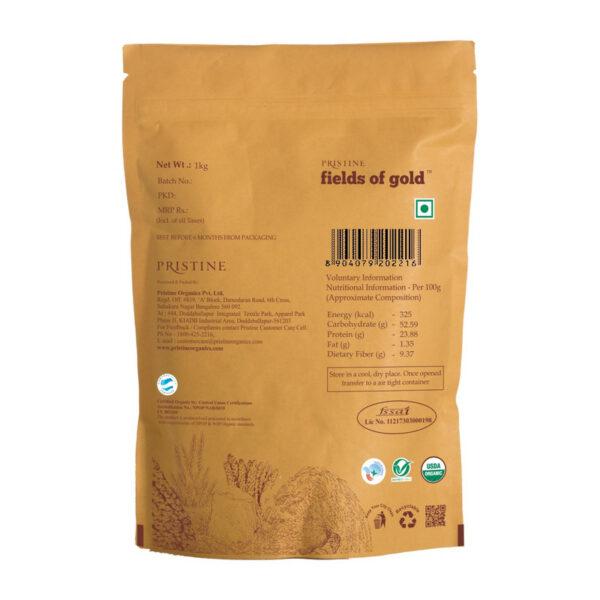 PRISTINE Fields of Gold Organic Moong Dal (Green gram split), 1kg Pack of 2