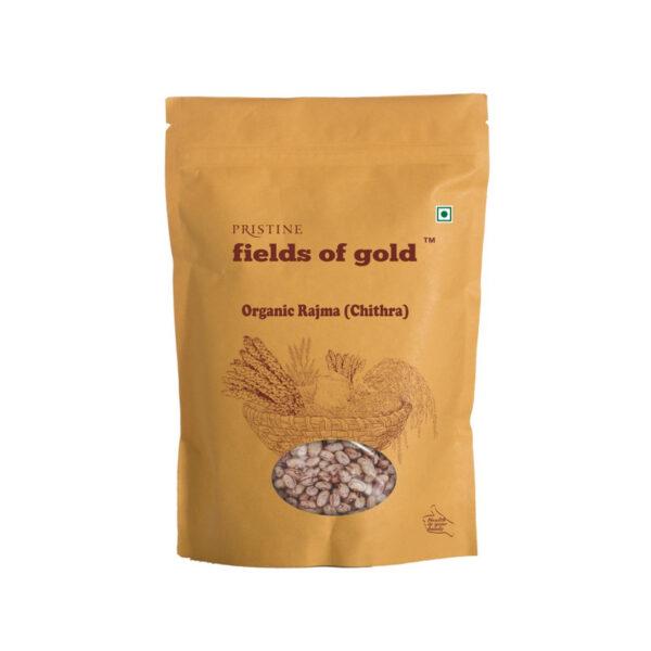 PRISTINE Fields of Gold Organic Red Rajma (Jammu), 500gm Pack of 1