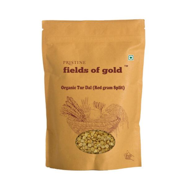 PRISTINE Fields of Gold Organic Toor Dal (Red gram split), 1kg Pack of 3