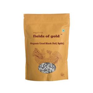 PRISTINE Fields of Gold Organic Urad Black Dal (Split), 500gm Pack of 1