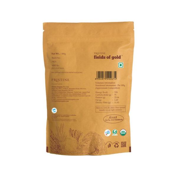 PRISTINE Fields of Gold Organic Urad Black Dal (Split), 500gm Pack of 4