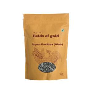 PRISTINE Fields of Gold Organic Urad Black (Whole), 500gm Pack of 1