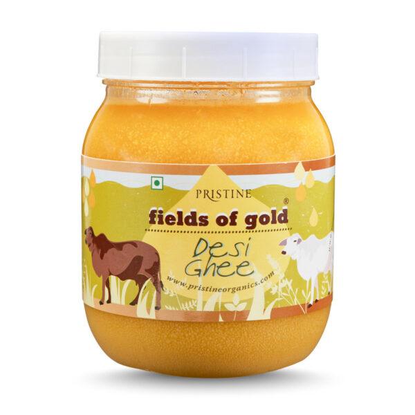 PRISTINE Fields of Gold Desi Ghee, 500ml Pack of 2