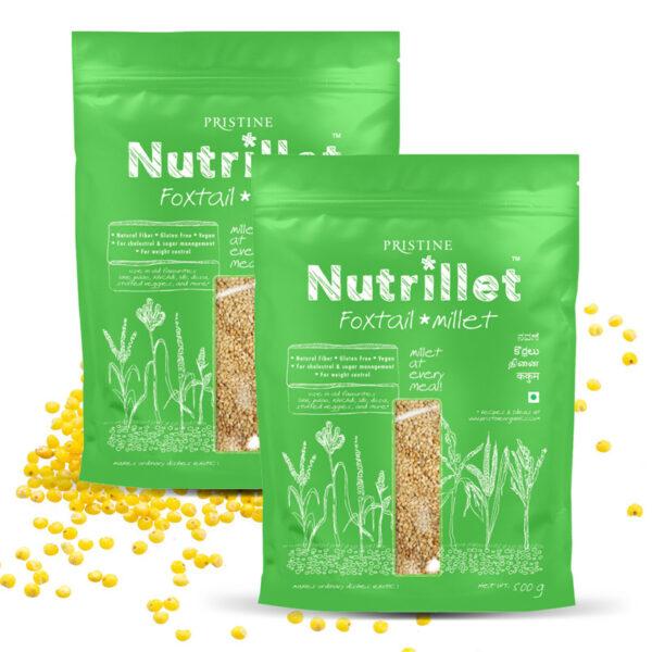 PRISTINE Nutrillet Foxtail Millet, 500gm Pack of 2