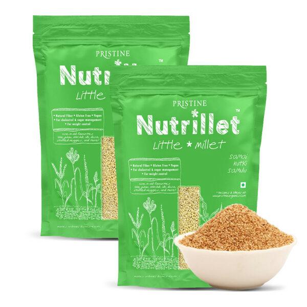 PRISTINE Nutrillet Little Millet, 500gm Pack of 2