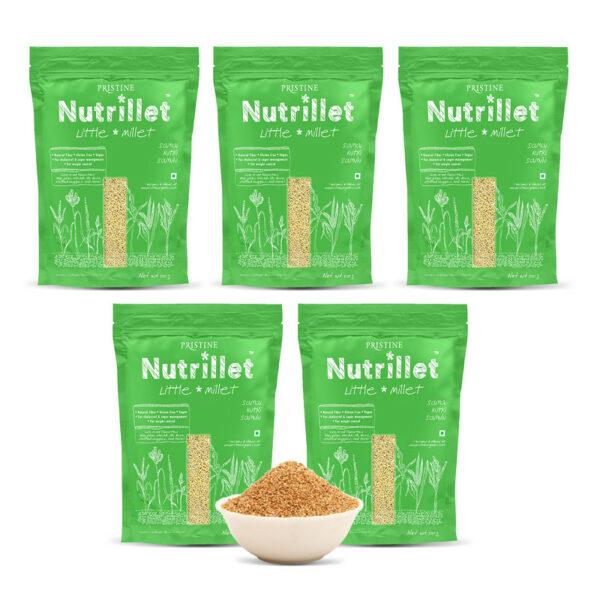 PRISTINE Nutrillet Little Millet, 500gm Pack of 5