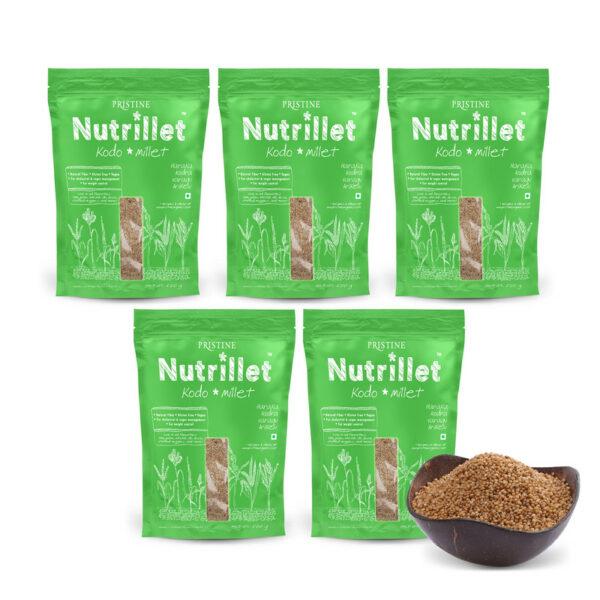 PRISTINE Nutrillet Kodo Millet, 500gm Pack of 5