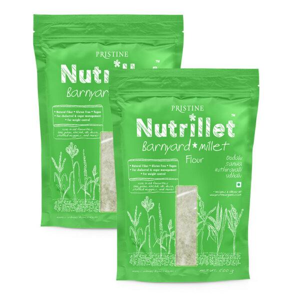 PRISTINE Nutrillet Barnyard Millet Flour, 500gm Pack of 2