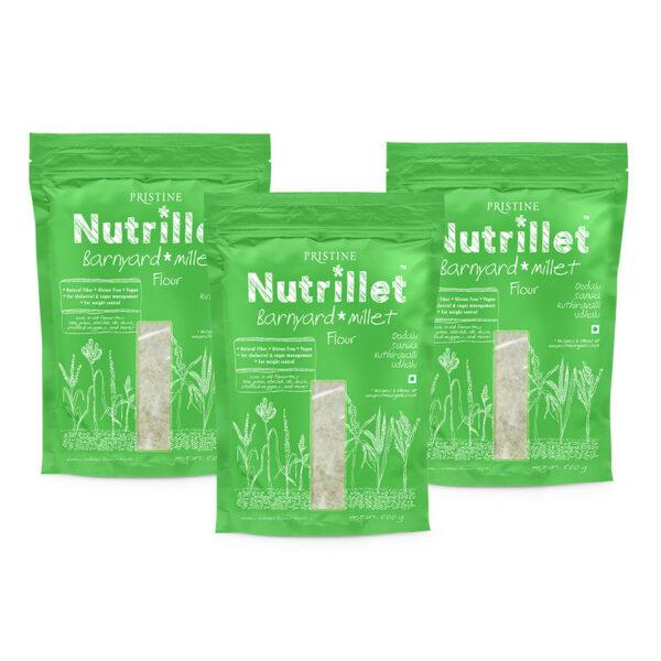 PRISTINE Nutrillet Barnyard Millet Flour, 500gm Pack of 3