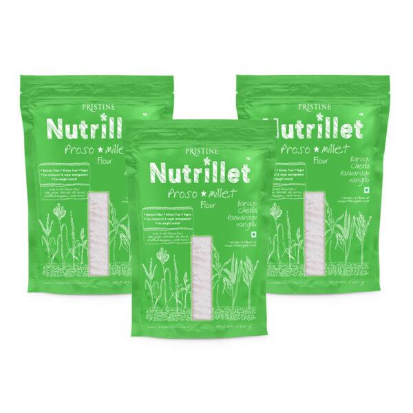 PRISTINE Nutrillet Proso Millet Flour, 500gm Pack of 3