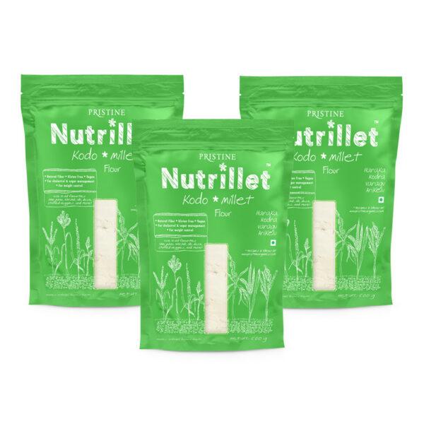 PRISTINE Nutrillet Kodo Millet Flour, 500gm Pack of 3