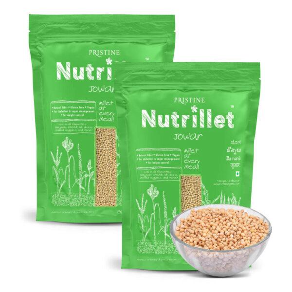 PRISTINE Nutrillet Jowar, 500gm Pack of 2
