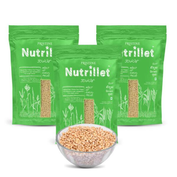 PRISTINE Nutrillet Jowar, 500gm Pack of 3
