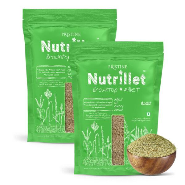 PRISTINE Nutrillet Browntop Millet, 500gm Pack of 2