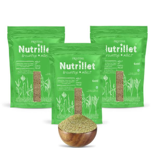 PRISTINE Nutrillet Browntop Millet, 500gm Pack of 3
