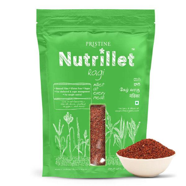 PRISTINE Nutrillet Ragi, 500gm Pack of 1