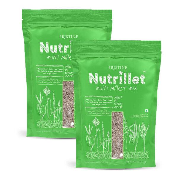 PRISTINE Nutrillet Multi Millet Mix, 500gm Pack of 2