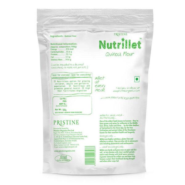 PRISTINE Nutrillet Quinoa Flour, 500gm Pack of 4