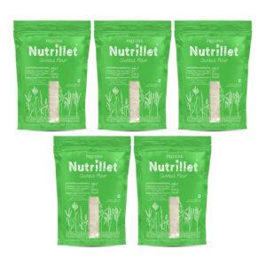 PRISTINE Nutrillet Quinoa Flour, 500gm Pack of 5