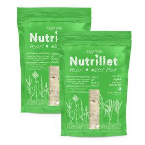 PRISTINE Nutrillet Pearl Millet Flour, 500gm Pack of 2