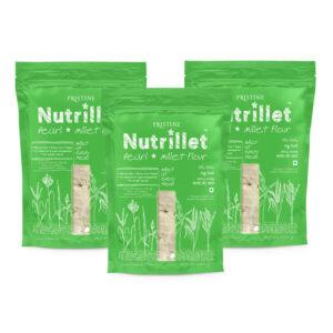 PRISTINE Nutrillet Pearl Millet Flour, 500gm Pack of 3