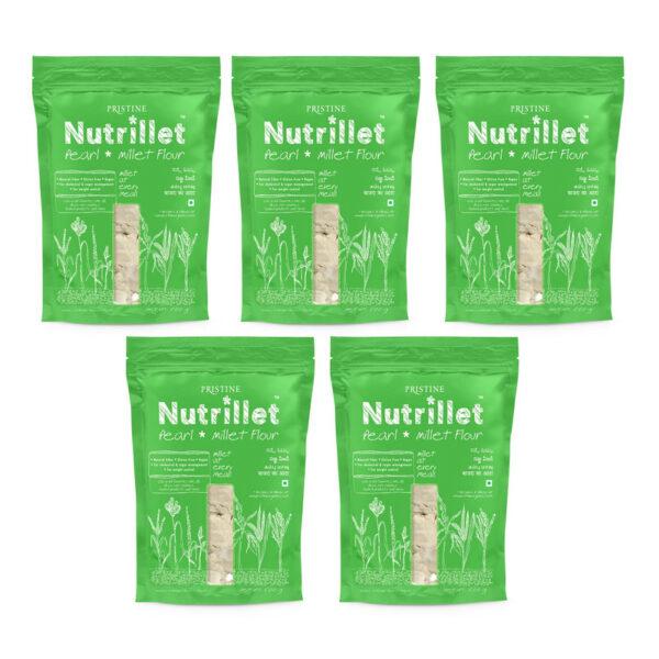 PRISTINE Nutrillet Pearl Millet Flour, 500gm Pack of 5