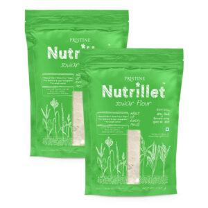 PRISTINE Nutrillet Jowar Flour, 500gm Pack of 2