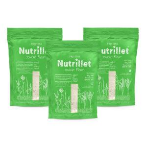 PRISTINE Nutrillet Jowar Flour, 500gm Pack of 3