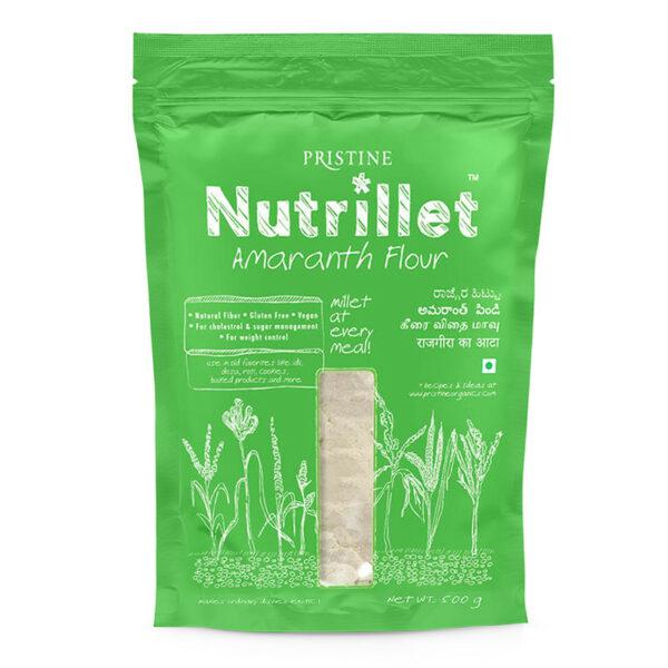PRISTINE Nutrillet Amaranth Flour, 500gm Pack of 1
