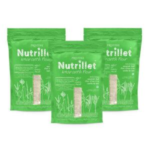 PRISTINE Nutrillet Amaranth Flour, 500gm Pack of 3