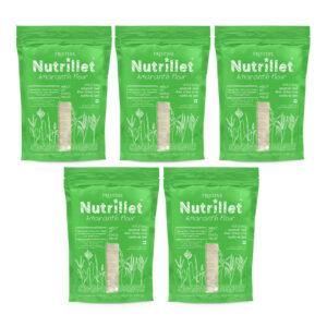PRISTINE Nutrillet Amaranth Flour, 500gm Pack of 5