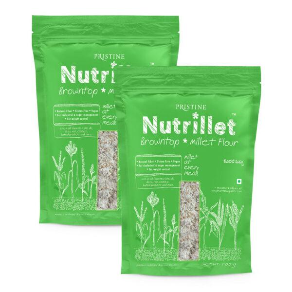 PRISTINE Nutrillet Browntop Millet Flour, 500gm Pack of 2