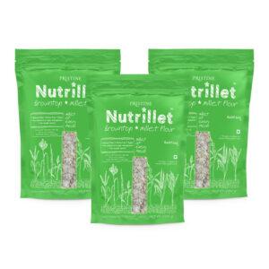 PRISTINE Nutrillet Browntop Millet Flour, 500gm Pack of 3