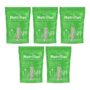 PRISTINE Nutrillet Browntop Millet Flour, 500gm Pack of 5