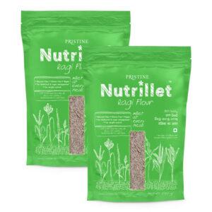 PRISTINE Nutrillet Ragi Flour, 500gm Pack of 2