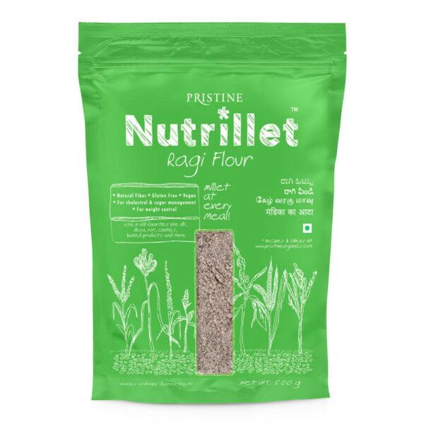PRISTINE Nutrillet Ragi Flour, 500gm Pack of 4