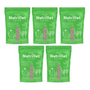 PRISTINE Nutrillet Ragi Flour, 500gm Pack of 5