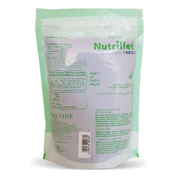 PRISTINE Nutrillet Red Quinoa, 500gm Pack of 1